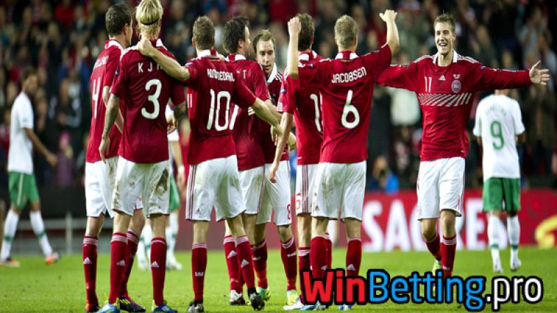 """Группа """"E"""", 2-й тур, матч Польша-Дания."""